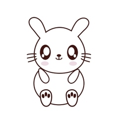 Rabbit kawaii cute animal icon vector