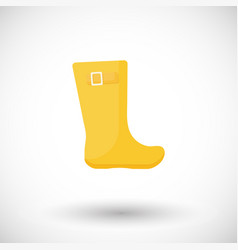 Rainboots flat icon vector