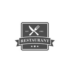 Restaurant logo fork and knife logo vector