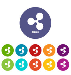 ripple icon simple style vector image