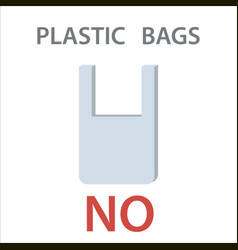 Say no to plastic bag vector