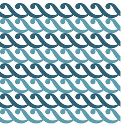 seamless geometric curl pattern waves vector image