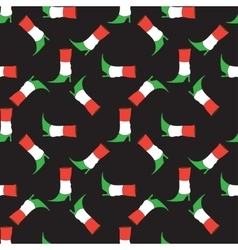 Seamless pattern with Italian flag colorsboot vector