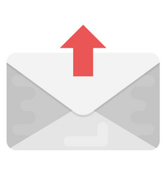 Sent mail flat icon vector