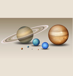 set of solar system element vector image