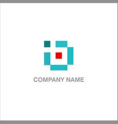 square shape company logo vector image