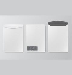 standard white blank letter envelopes a4 size vector image