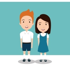 Students group uniform icon vector