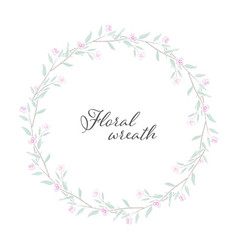 sweet tiny pink watercolor roses wreath frame vector image