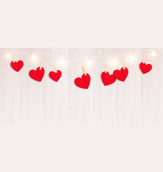 Valentines hearts string composition vector
