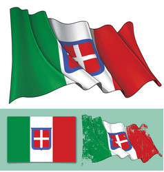 waving flag of italy 1861-1946 vector image