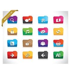 web folders vector image