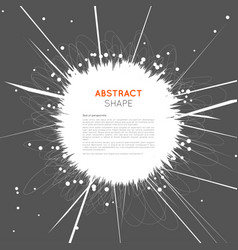 Abstract space explosion background vector