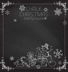 Chalk Christmas background vector image