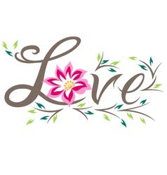floral love design vector image vector image