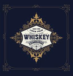 retro logo for whiskey vector image vector image