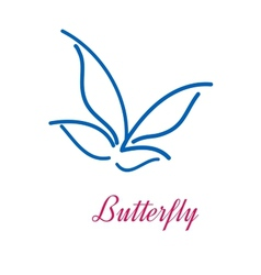 Stylized butterfly icon vector image