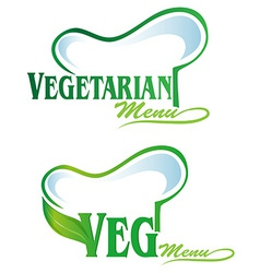 vegetarian and veg symbol menu vector image vector image