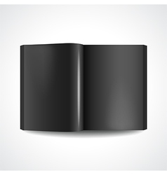 Book with black pages vector image