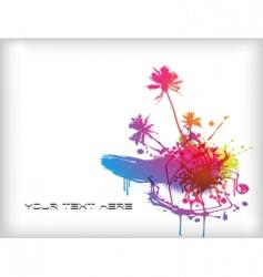 colored splash vector image vector image