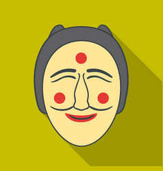 hahoe mask icon in flate style isolated on white vector image vector image