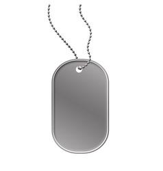 military dog tag vector image