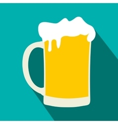 Mug of beer flat icon vector image vector image