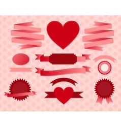 valentines day ribbons vector image