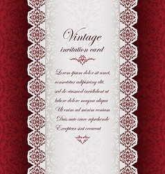 Vintage ethnic background with lace vector