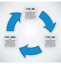 Circular Arrows - Three Steps vector image