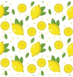 Lemon seamless pattern Lemonade endless vector image vector image