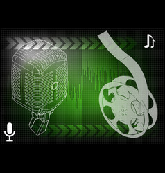 microphone and filmstrip vector image