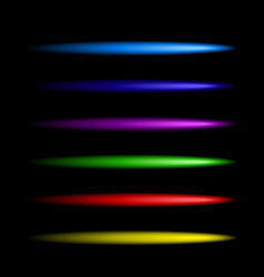 Neon colorful brushes set vector