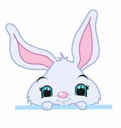 peeking bunny vector image
