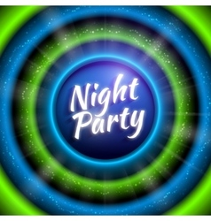 premium flyer template for night party vector image vector image