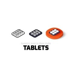 Tablets icon in different style vector image