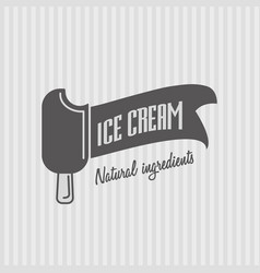 ice cream logo badge or sign for any use vector image vector image