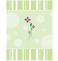 PurpleFlowers vector image