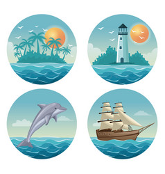 white background with colorful circular frames of vector image