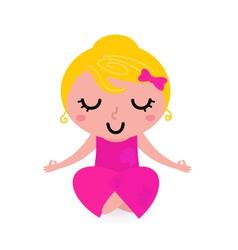 yoga asana pose vector image vector image