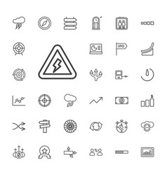 33 arrow icons vector