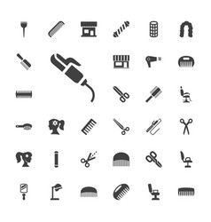 33 hairdresser icons vector