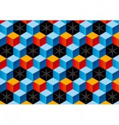 3D bricks vector image