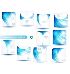 abstract blue template and set vector image