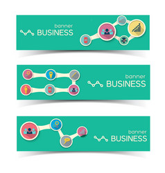 Abstract business horizontal banners set vector