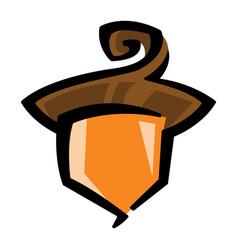 Acorn logo symbol vector