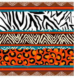 African animal print pattern background vector