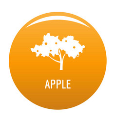 Apple tree icon orange vector