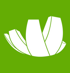 Artscience museum in singapore icon green vector