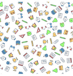back to school pattern background icon vector image